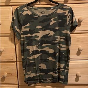 J crew collector tee green army print